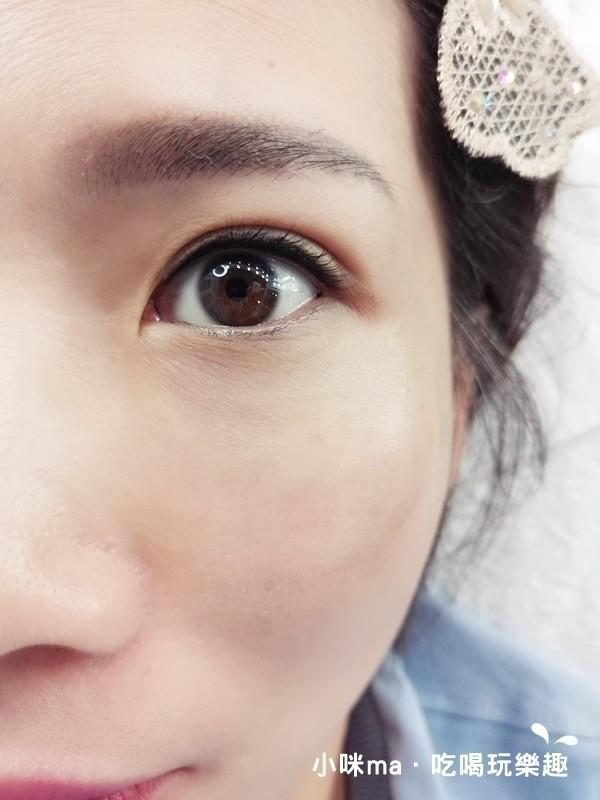 韓式3D美瞳線/隱形眼線成品近照-幻羽毛時尚美學中和紋繡